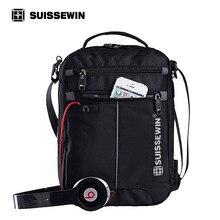 Swiss Messenger Shoulder Bag 11 inch Black Bag for Ipad handy crossbody bag for students Casual Oxford Messenger Satchel