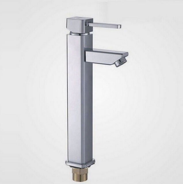 fashion high quality chrome brass single lever hot and cold 40mm size high bathroom sink faucet basin faucet fashion europe style high quality brass