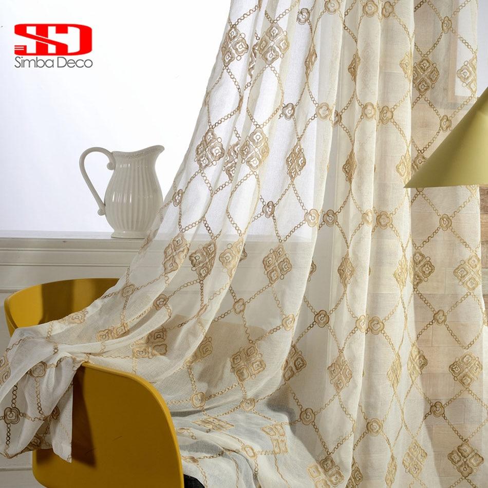Damask Bedroom Curtains - Sheer curtains for bedroom translucidus embroidered damask blinds voile drapes tulle window vorhang cortinas for living