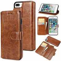 For IPhone 6 6s Case 2 In 1 Luxury Vintage Magnetic Wallet Detachable Coque Flip Leather