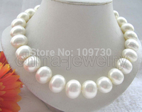 Jewelry 002712 Beautiful 18 16mm white south sea shell pearl necklace 14KGP gold filled clasp 5.6