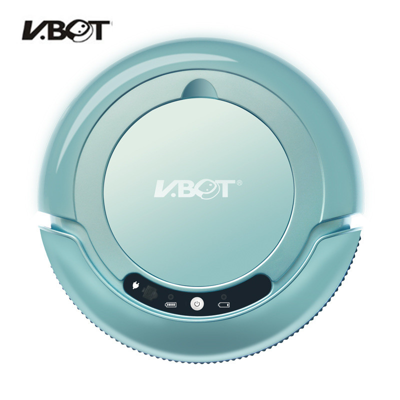 V-BOT T270 Robot Vacuum Cleaner Home Automatic Cleaning Double-sided Brush Suction Sweep One Machine Blue