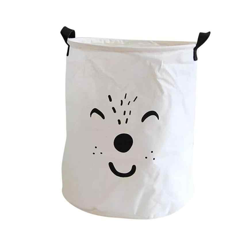 Dobrável Saco de Armazenamento de Roupas Organizador Do Brinquedo Dos Desenhos Animados Cesto de roupa suja para Quartos/Berçário/Armários de Roupa Suja Sorter