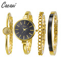 Cacaxi Brand Women Watches Set 4pcs Female Simple Style Quartz Wristwatches Ladies Popular Alloy Watch Set Montre Femme A141