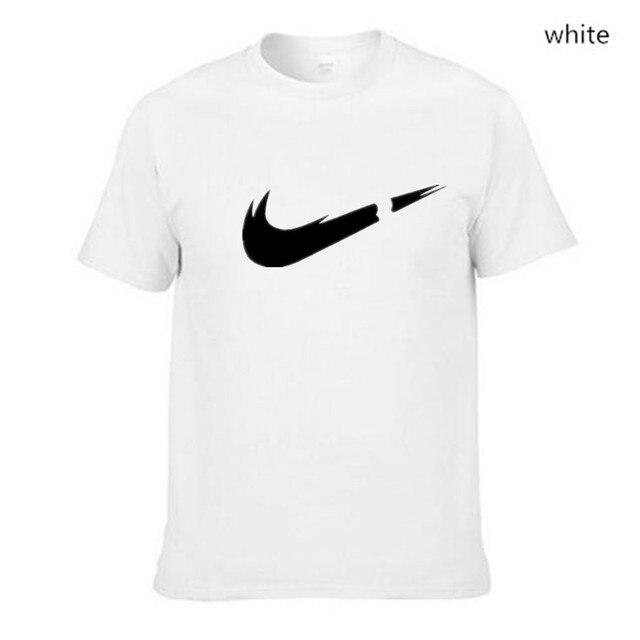 2018 חדש עיצוב כותנה מצחיק T חולצות O-צוואר חולצה גברים אופנה מותג לוגו הדפסת T חולצת גברים חולצות טיז מקרית גברים של חולצה