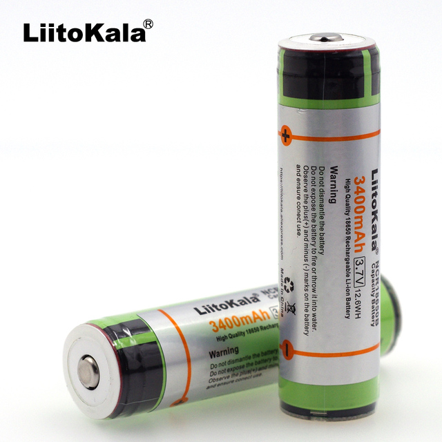 2019 Liitokala 18650 3.7V 3400mah NCR18650B Lthium Battery Electronic cigarette Power Battery Plus protection board for