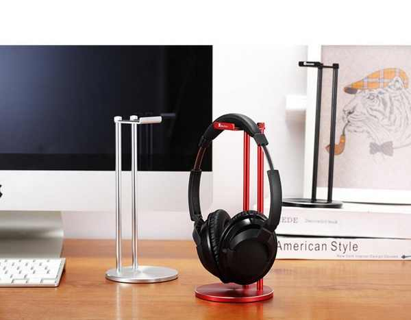 JonsBo Headphone Bracket All Aluminum and Magnesium Headset Stand Practical Earphone Holder Black Or Silver