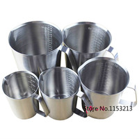 5pcs Lot Scale Clear 500ml 700ml 1000ml 1500ml 2000ml Each One Thickening 304 Stainless Steel Measuring