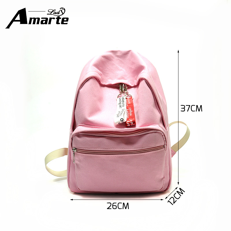 Amarte Backpack Women School Bags For Teenagers Men Canvas Travel Bags Girls Multi Function Laptop Backpack