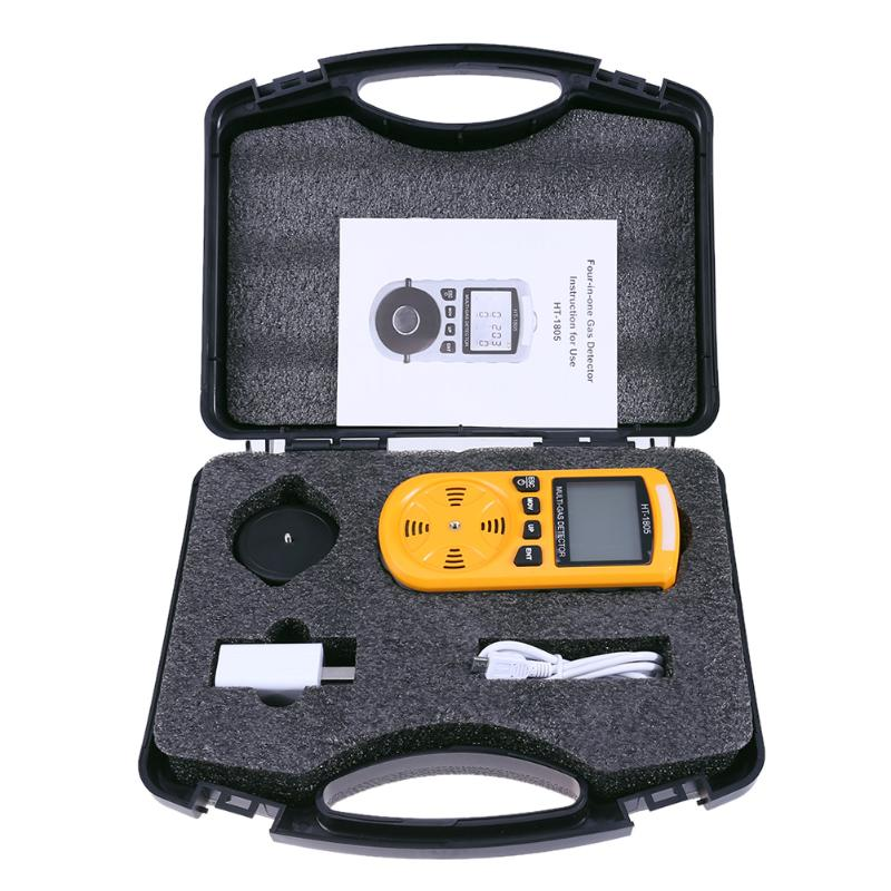 4 in 1 Portable Gas Tester Detector Carbon Dioxide Carbon Dioxide CO Gas Density Monitor Analyzer Detector Measurement Tool carbon dioxide thermodynamics kinetics and mass transfer