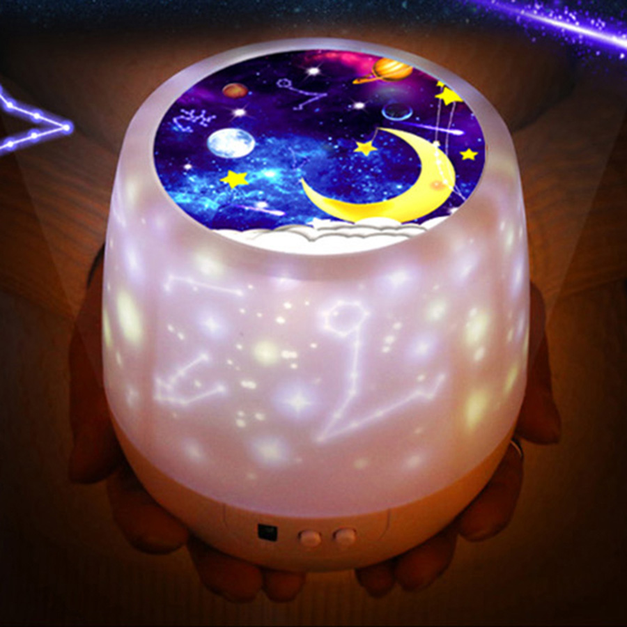Image 5 - Colorful Starry Sky Projector Night Light Rotation Starry Moon Night Lamp USB Charging For Birthday Gift Romantic Baby Children-in LED Night Lights from Lights & Lighting