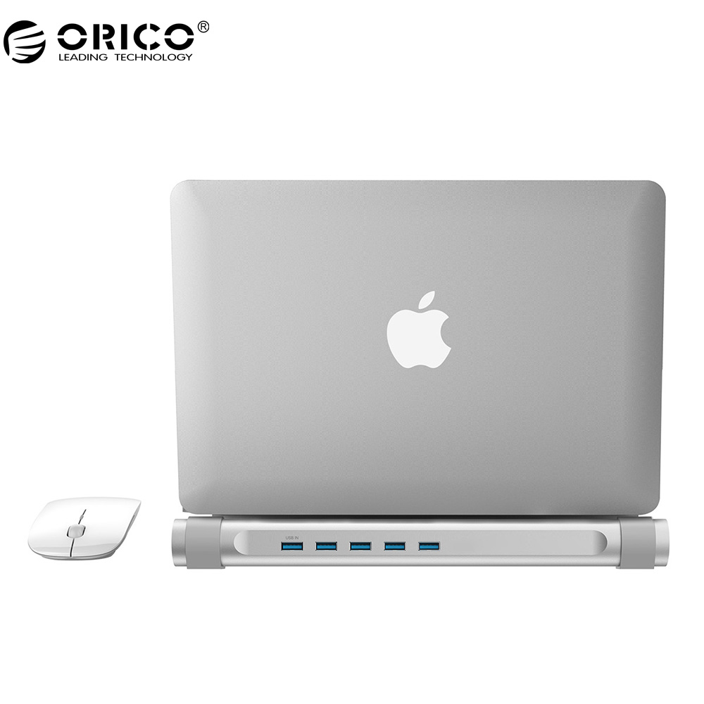 ORICO 4-port USB 3.0 HUB, Laptop Stand ABS USB 3.0 HUB Super Speed transmission 5 Gbps für Mac Laptop Mini Hub-Splitter (M4U3)