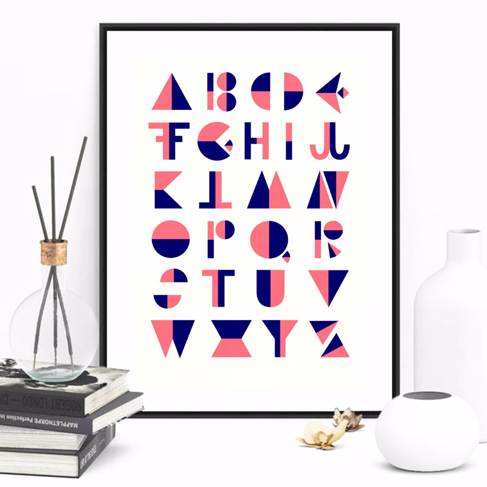 Flip Alphabet Quote Canvas Art Print Painting Poster Wall Pictures For Kids Room Home Decorative Bedroom Decor No Frame in Painting Calligraphy from Home Garden
