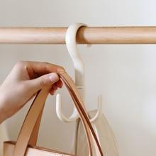 Multi-purpose rotating hook tie organizer belt rack hanging bag hat clothes holder hanging clothing scarf space-saving