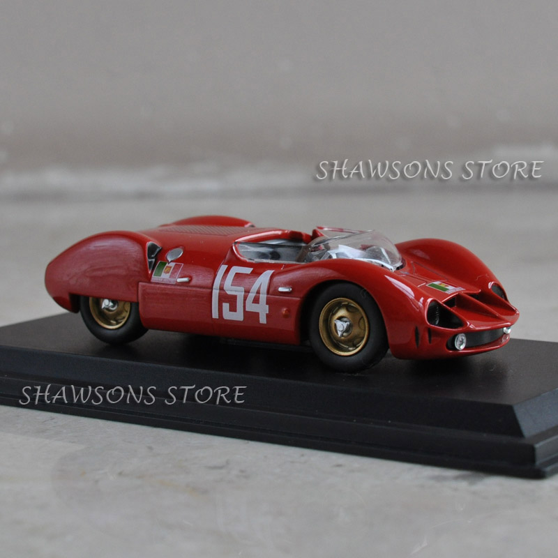 LEO Models Toys 1:43 Vintage Racing Car Maserati Tipo 64 Targa Florio 1962 Replica Collections