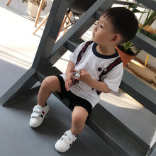 Baby Kids Clothes Cute Bear and Bag Print T shirt Summer Tops Tee for Boys and Girls Toddler Cotton T-shirt Clothing