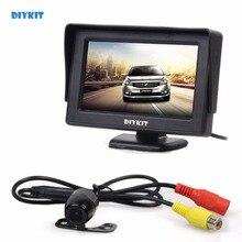 Diykit Универсальный 4.3 дюймов Цвет TFT ЖК-дисплей автомобиля Мониторы с HD заднего вида автомобиля Камера парковка Системы видео кабель