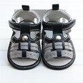 2016 Novos Meninos Sandálias Sapatos de Couro PU Bebê Moda Verão Primeiros sapatos de Bebê Walker Meninos Meninas Sandálias Chinelos de Praia Luz 0-18 M