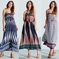 Beach Summer Dress 2016 ZANZEA Women Boho Fashion Maxi Long Dresses High Waist Print Casual Loose Sleeveless Vestidos