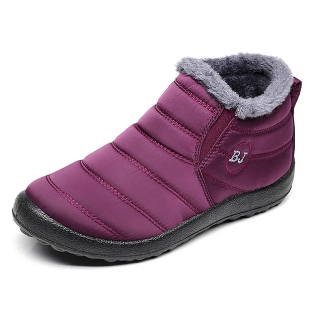 Waterproof Female Shoes Winter Unisex Ankle Boots Women's Skid Plus Size Snow Boots Warm Plush Couple Style Cotton Casual Drop