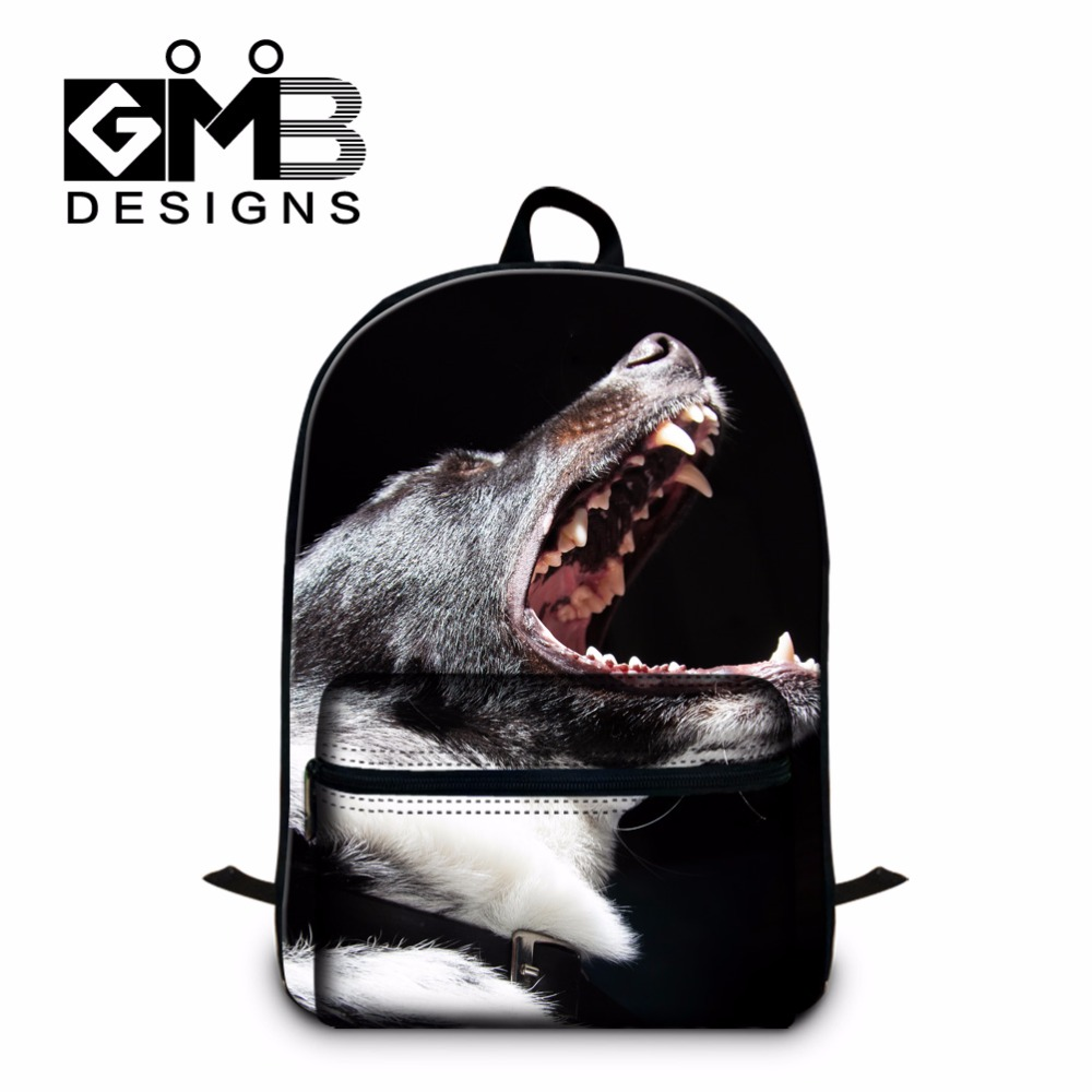 Best Casual School Backpacks College Students Shoulder Bookbags Dog 3D Pattern Ultra Light Back Pack for Children School bags
