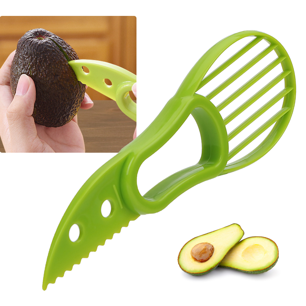 HOOMIN 3 in 1 Avocado Slicer Pulp Separator Fruit Cutter Kitchen Accessories Kitchen Tools Multi-function Gadgets 2