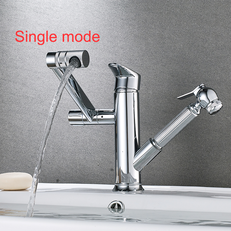 JIKU Bathroom Faucet Copper  Basin Hot And Cold Rotating Above Counter Single Hole Wash Home