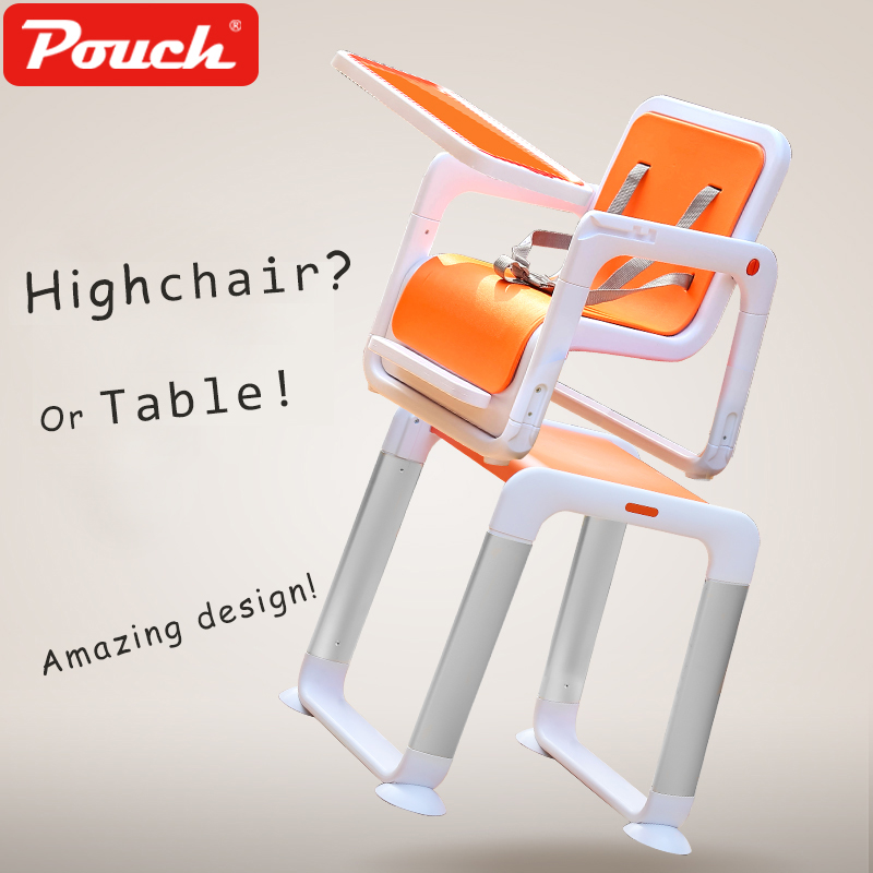Baby Highchair 3-in-1 Feeding chairs High chairi multifunction seats like table sets for the kids child dining chair Pouch k15 стоимость