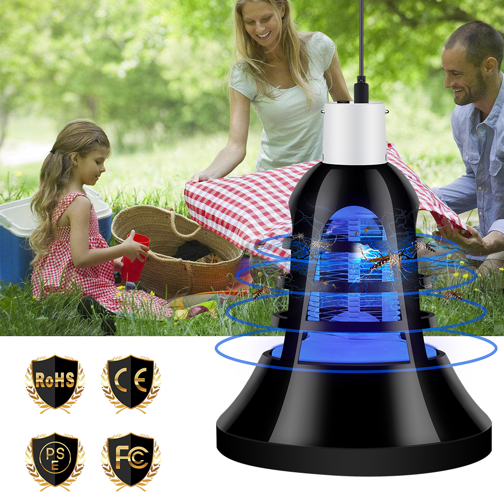 USB 2 in 1 Electric Photocatalyst LED Mosquito Killer Lamp Bulb E27 LED Night Light 220V Anti Mosquito Trap Insect Killer 110V