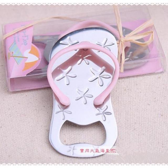 f66e9a907236 10pcs Flip flop wine bottle opener with starfish design wedding favor guest gift  grass ribbon