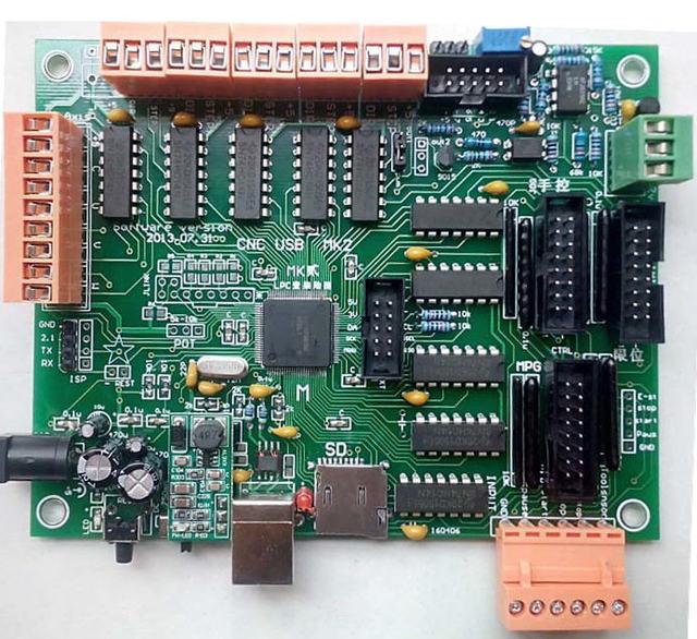 Multi оси и многофункциональный ЧПУ панель управления USB numerical control offline USBCNC MK2 DIY