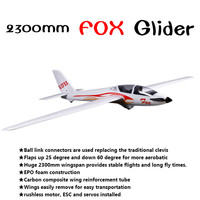 FMS 2300mm 2.3m FOX V2 Glider with Flaps 5CH 3S EPO PNP Big Size Trainer Sailplane RC Airplane Hobby Model Plane Aircraft Avion