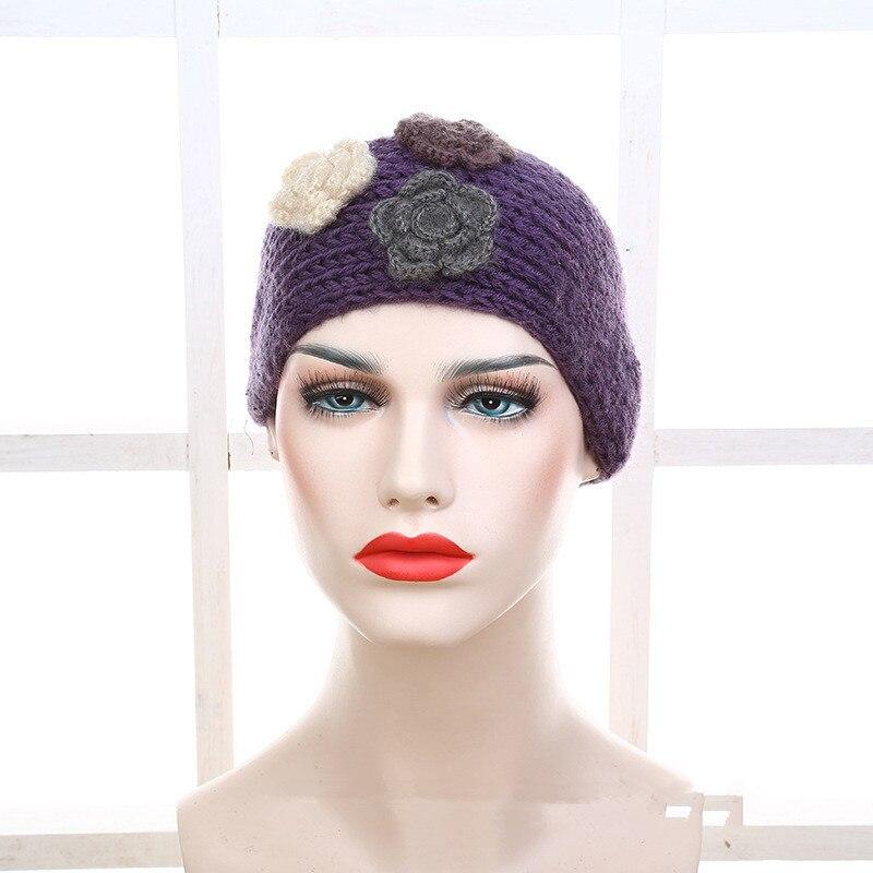 Nuevo! Mujeres bastante lana flor turbante Bandas para la cabeza ...