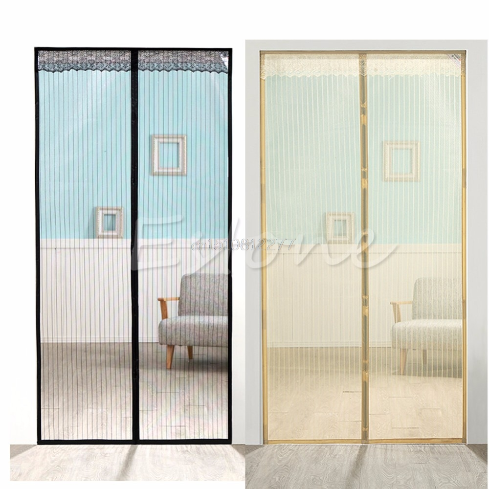 Door Mesh Magic Curtain Magnetic Snap Insect Fly Bug Mosquito Screen