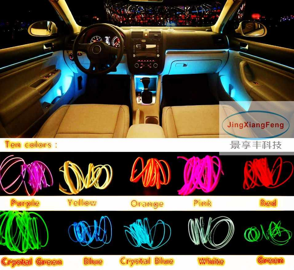 hight resolution of  jingxiangfeng 10 color 1m flexible neon light glow el salon wire flat led strip for