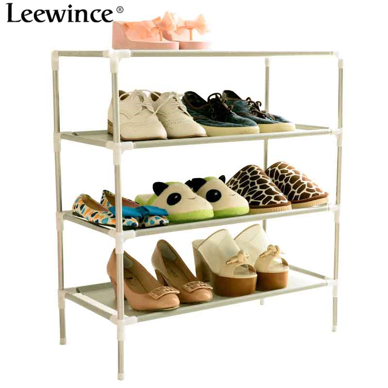 Leewince Shoe Cabinet Non-woven Shoes Racks Storage Large Capacity Home Furniture DIY Simple Dustproof Shoe Cabinet