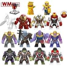 Marvel Big Size Figure Spiderman Hulk Valkyria Battle Horse Iron Man Infinity Gauntlet Stones Legoings Avengers Building Blocks