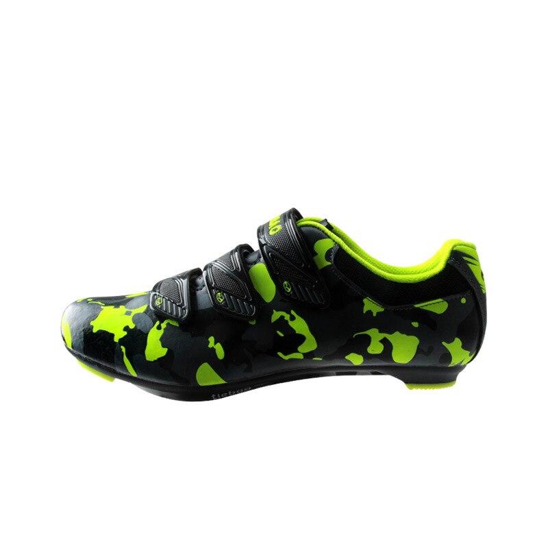 Tiebao nuevos hombres bicicleta de carretera Zapatos antideslizantes transpirables ciclismo Zapatos triatléticos Deporte Zapatos bicicleta - 6