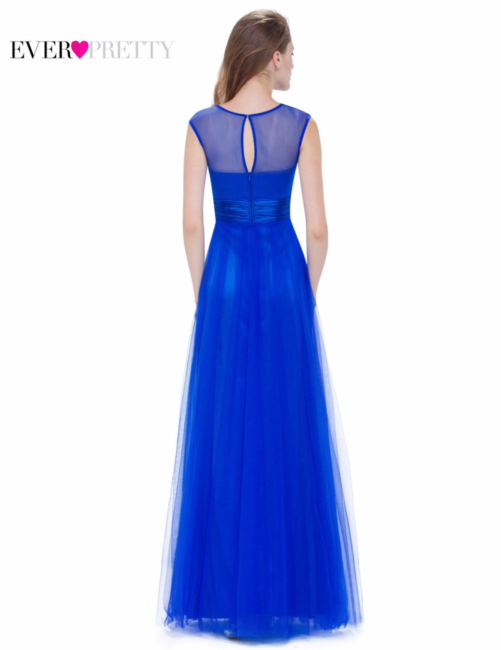 1f8ca05b74b Fashion Sapphire Blue Evening Party Dress A Line Ever Pretty EP08899SB New  arrival Women Elegant Sleeveless Long Dress 2018-in Evening Dresses from  Weddings ...