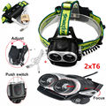 6000 Lumen Headlamp 2x XM-L T6 LED Head Lamp Light 18650 Lantern Flash Light
