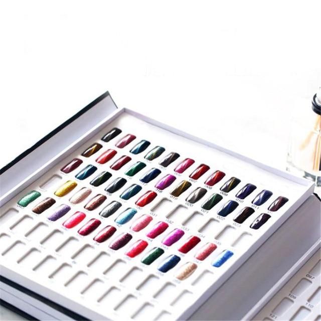 120 צבעים מניקור כלי נייל False החדש צבע ספר צבע תצוגת אמנות ציפורן ג 'ל פולני צבע כרטיס נייל צבע תרשים עיסוק לוח