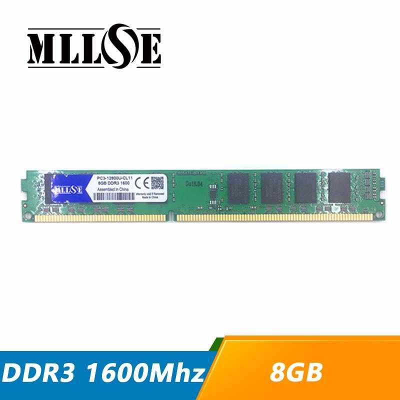 MLLSE RAM ギガバイト DDR3 8 1600 1600 mhz PC3-12800 PC3-12800U デスクトップコンピュータ PC の RAM メモリメモリアラム DIMM DDR 3 8 グラム 8 グラム