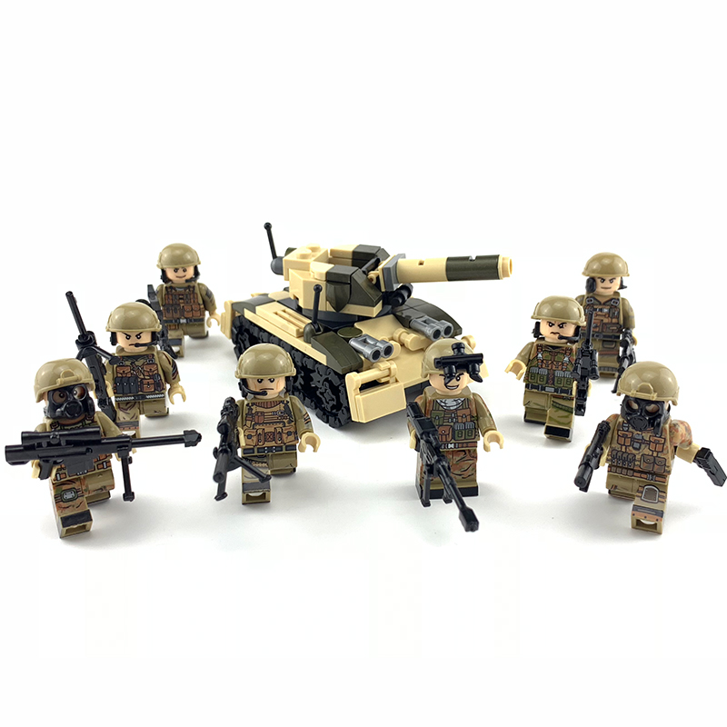 Toys & Hobbies Conscientious New 8pcs Swat Military Small Tanks Flood Dragon Assault Special Force Soldiers Weapons Figure Building Blocks Toys For Children Blocks