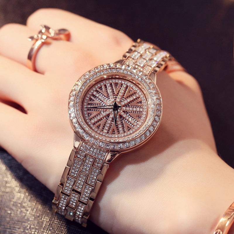 Luxury Brand Watches Women Casual Dress Quartz gold Watch Fashion Stainless Steel Crystal Ladies Wristwatches Relogio Feminino 2016 new ladies fashion watches decorative grape no word design gold watch stainless steel women casual wrist watch fd0107