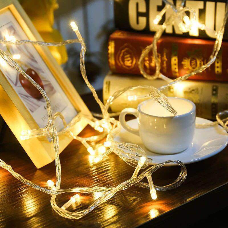 BTgeuse 2 3 4M String Lights Battery Case Powered Fairy String Lights For Homes Christmas Tree Wedding Party Room Decoration