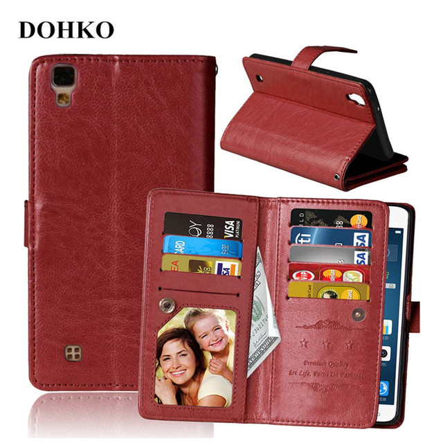 For LG X power Cases Cover Luxury Retro Style Flip Leather Wallet Cases For LG K220DS K220 LS755 Holder Stand Card Slot Coque