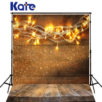 Kate Photography Backdrops Christmas Yellow Bulb Spot Fundo Fotografico Madeira Wood Floor Backdrop For Photo Studio