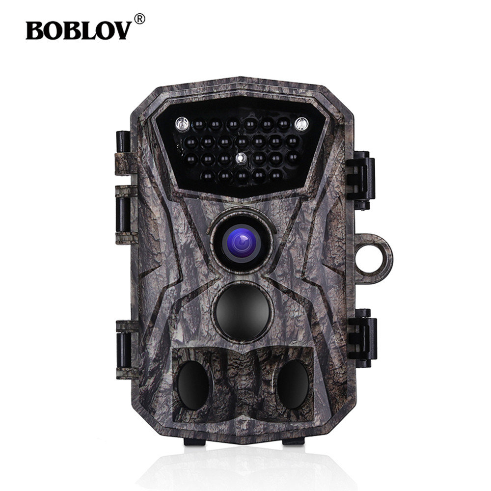BOBLOV H883 18MP 1080P 120 Degree PIR Lens Hunting Trail Camera 24 Infrared LEDs Scouting Wildlife Night Vision Cameras-in Hunting Cameras from Sports & Entertainment