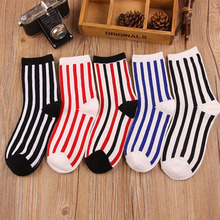 Character 1 Pair stockings female Brand Cotton Stockings For Women Cute Polka Dot Stripes Stocking 2017 outlet stocking