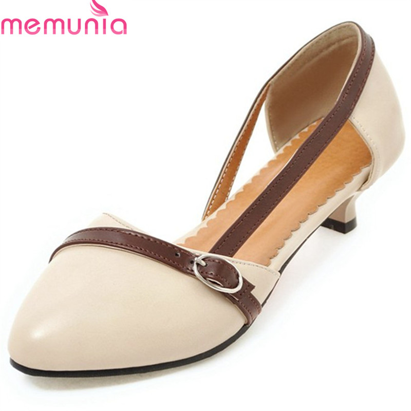 MEMUNIA 2018 new arrive women pumps spring summer mixed colors shallow lady shoes pointed toe comfortable low heel casual shoes 2018 spring summer low heel sandals pointed toe shallow mouth women shoes woman cozy casual shoes leisure single ladies shoes cy